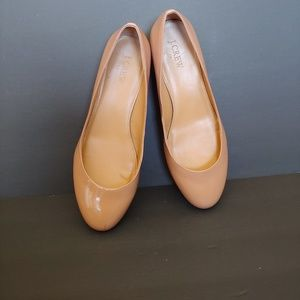 J Crew factory patent leather chunky heel shoes